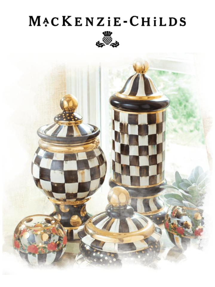 designer checkered china set